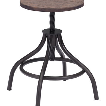 Omni Bar Stool | Rustic Wood