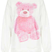 Teddy Bear Furry Sweat - Jersey Tops - Clothing - Topshop USA