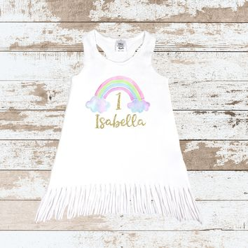 Custom 1st Birthday Rainbow