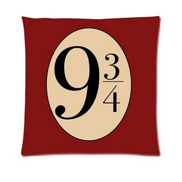 9 3/4 Harry Potter Square Throw Pillow Cover