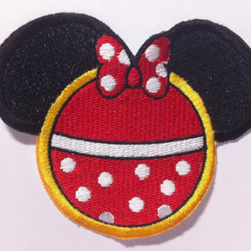 Minnie Mouse Inspired Mouse Ear Patch