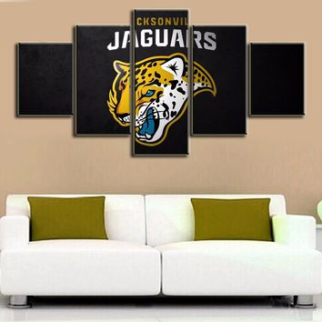 Canvas Posters Living Room Deco Posters Sofa Background Paintings Decorative Printing Pictures jacksonville jaguars
