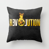 Hunger Games - Revolution Throw Pillow by Cloz000