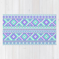 Tribal Art Creation Purple and Mint Rug by Tjc555 | Society6