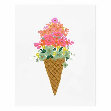 Ice Cream Cone Art Print by RIFLE PAPER Co.   Made in USA