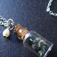 Smoke in a Bottle Glass vial necklace