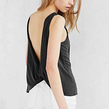 Silence + Noise Modern Twist-Back Tank Top