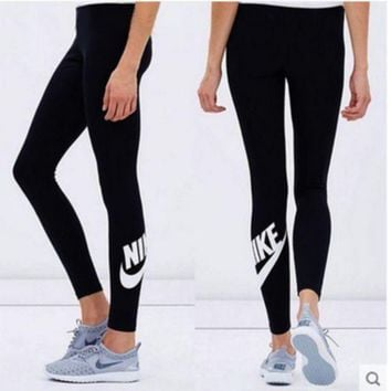 Nike Fashion Print Exercise Fitness Gym Yoga Running Sportswear Legging I