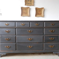 Solid Maple Buffet / Dresser in Charcoal