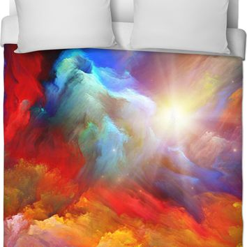 ROB Colorful Clouds In the Sky Duvet Cover