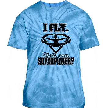 I Fly... Cheerleading Tie Dyed T-shirt