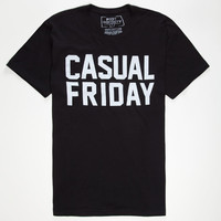 Riot Society Casual Friday Mens T-Shirt Black  In Sizes