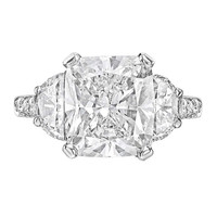 5.01 Carat Cushion-Cut Diamond Engagement Ring