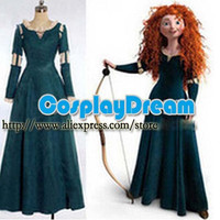 Female Princess Merida Adult Costume Brave Merida Cosplay Dress Film/Movie Party Halloween Costumes Custom Plus Size