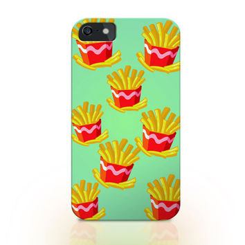 Fries iphone case, iphone 6 case, food iphone 6 plus cover, french fries iphone cover, iphone 6 plus cover, iphone 5s case, fries iphone