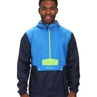 NEW W/TAGS MENS COLUMBIA FLASHBACK WINDBREAKER PULLOVER HALF ZIP BLUE JACKET LG