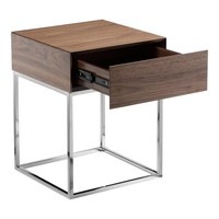 Chio occasional table  / nightstand walnut