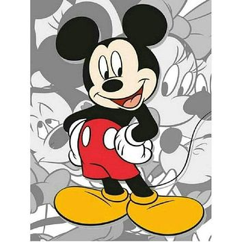 5D Diamond Painting Red Pants Mickey Mouse Kit