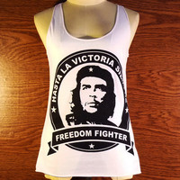 Freedom Fighter Unisex Tank Top Women's Che Guevara Pop Culture Rebel Icon Symbol Revolution T-Shirt Country Size XS S M