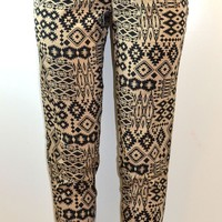 Allison Buittney All Over Tribal Inspired Print Peg Leg Harem Pants