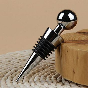 Wholesale 400 PCS/sets Home Bar Metal Alloy Red Wine Bottle Stopper Cone Plugger Ball Head Stopper Tool Free shipping