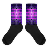 Square Tiles on Mt Olympus || Black foot socks — Future Life Fashion