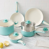 Greenpan® Nonstick 10-Piece Cookware Set - Aqua