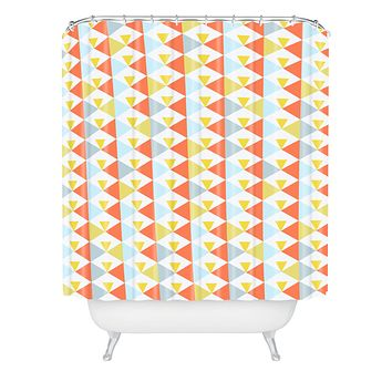 Hello Twiggs Long Beach Shower Curtain