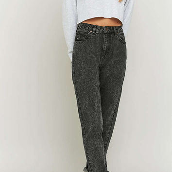 BDG Acid Washed Black Mom Jeans - Urban Outfitters