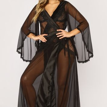 Fire And Desire Robe - Black