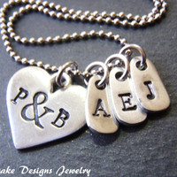 Valentines gift personalized heart necklace for girlfriend gift for mom