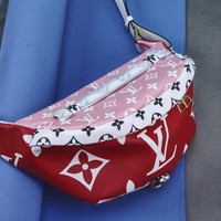 KUYOU LV BUMBAG M43644 color red flower pack powder