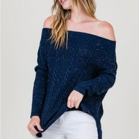 Cozy Casual Off Shoulder Sweater