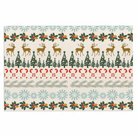 "Famenxt ""Christmas Vibes"" Holiday Pattern Decorative Door Mat"