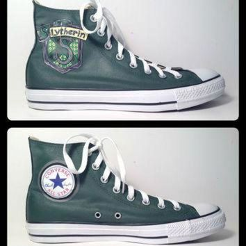 LMFUG7 Women's Harry Potter House Converse Hi-Tops