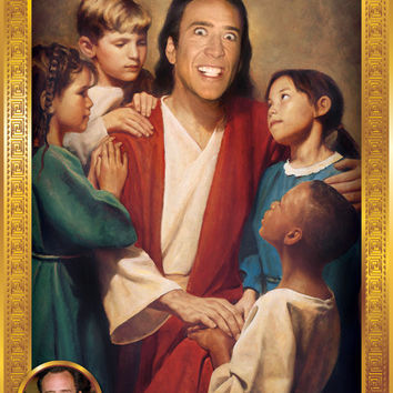 Nicolas Cage Devotional Candle