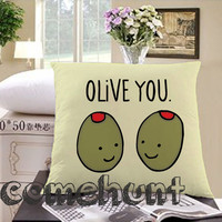 olive you Square Pillow Case Custom Zippered Pillow Case one side and two side