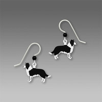 Sienna Sky Earrings - Border Collie