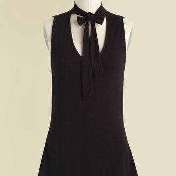 Bold-Faced Tie Tank Top in Ink | Mod Retro Vintage Short Sleeve Shirts | ModCloth.com