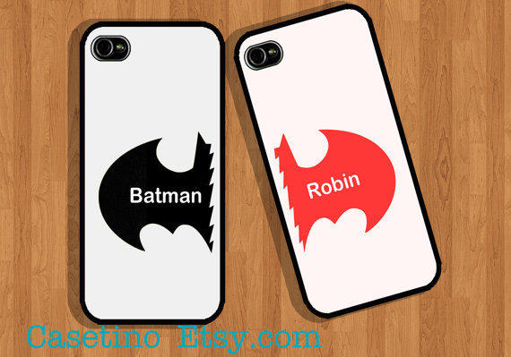 iphone 4s used batman amp robin iphone from casetino on etsy 10937
