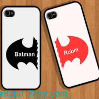 Batman & Robin Case , Couple iPhone Case , iPhone 5 Case , iPhone 4 Case , iphone 4s case , Plastic hard case , Valentine
