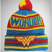 Wonder Woman Toddler/Baby Pom Beanie Hat - Spencer's