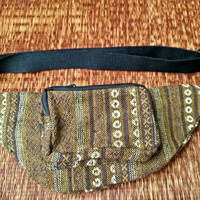 Fanny pack Festival Boho Ethnic Tribal Styles belt belly Bags Bum Pouch Travel hip sack phanny waist Ikat Hippies Gypsy Hmong Thai in Brown