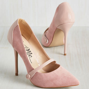 Feeling Pumped Heel in Powder Pink | Mod Retro Vintage Heels | ModCloth.com
