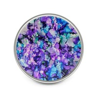 Purple Metal Pin, Lapel Pin, Alcohol Ink Pin