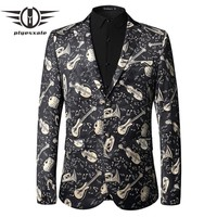 Black Velvet Blazer Men New Arrival Autumn Slim Fit Rock Stage Clothing Casual Prom Blazer For Men