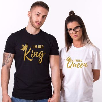Shirt His & Her King And Queen Valentines Day Gift