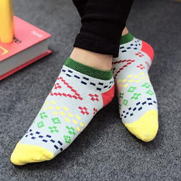 Womens Aztec Print Socks Autumn Winter Gift-07