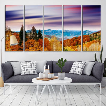 12442 - Forest Wall Art- Autumn Canvas Print- Forest Canvas- Forest Canvas Art- National Art Print- Canvas Print- Large Wall Art-