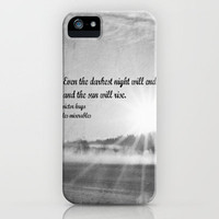Les Miserables Quote Victor Hugo iPhone Case by KimberosePhotography | Society6